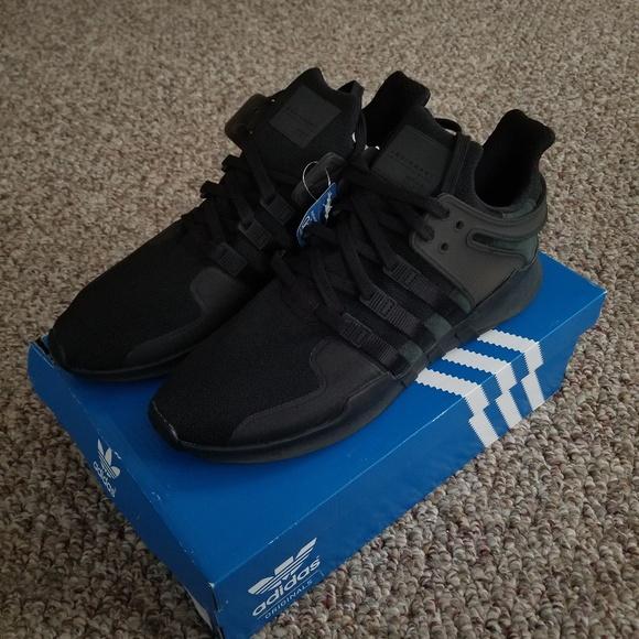 new product c013b 67b13 Adidas EQT Support ADV Triple Black NWT